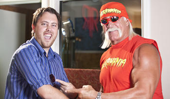 Brandon and Hulk Hogan